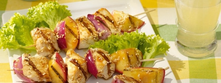 Barbecue Chicken and Apple Kebabs