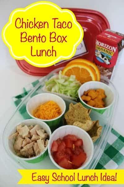 Chicken Taco Bento Box Lunch Idea
