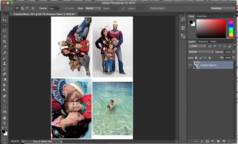 photoshop contact sheet II