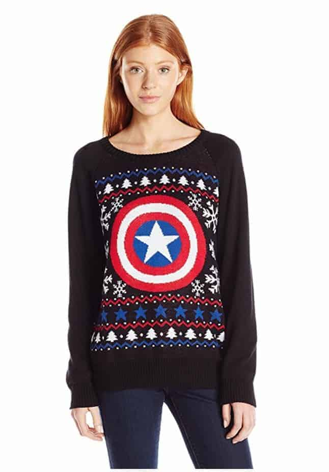 best ugly christmas sweaters marvel captain america