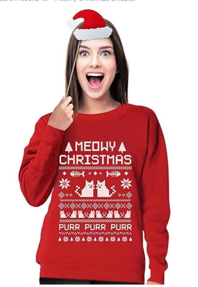 best ugly christmas sweaters cats kittens