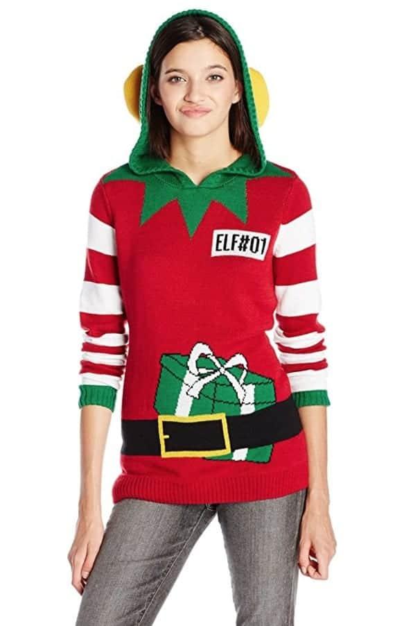 best ugly christmas sweaters santa's elf