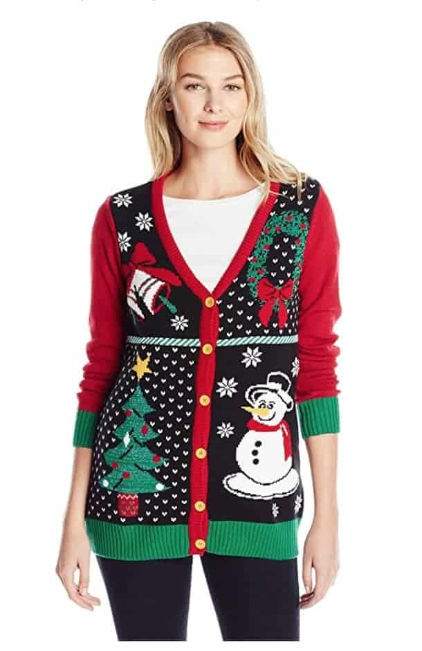 best ugly christmas sweaters grandma button up