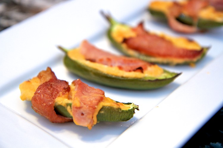 Sweet and Spicy Bacon Wrapped Jalapeno Poppers