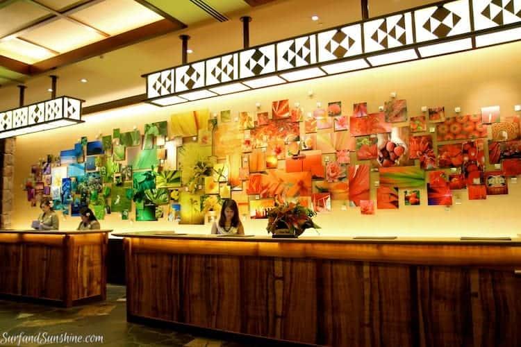 disney aulani art front desk mural