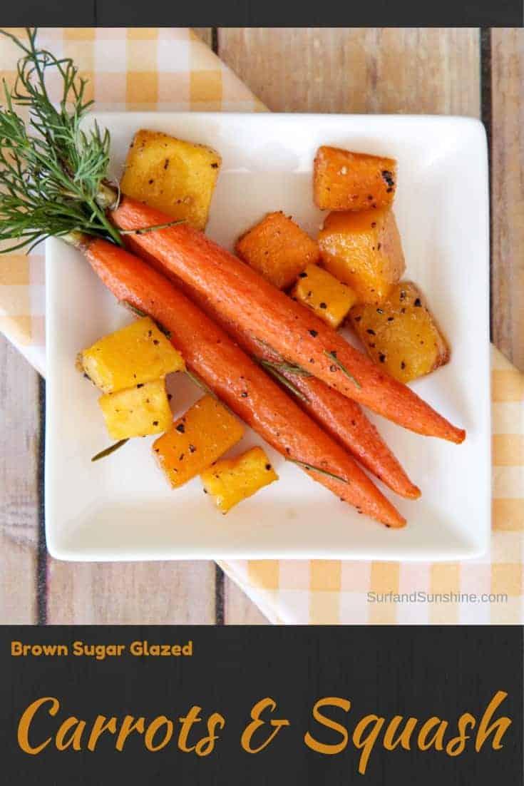 glazed carrots and squash