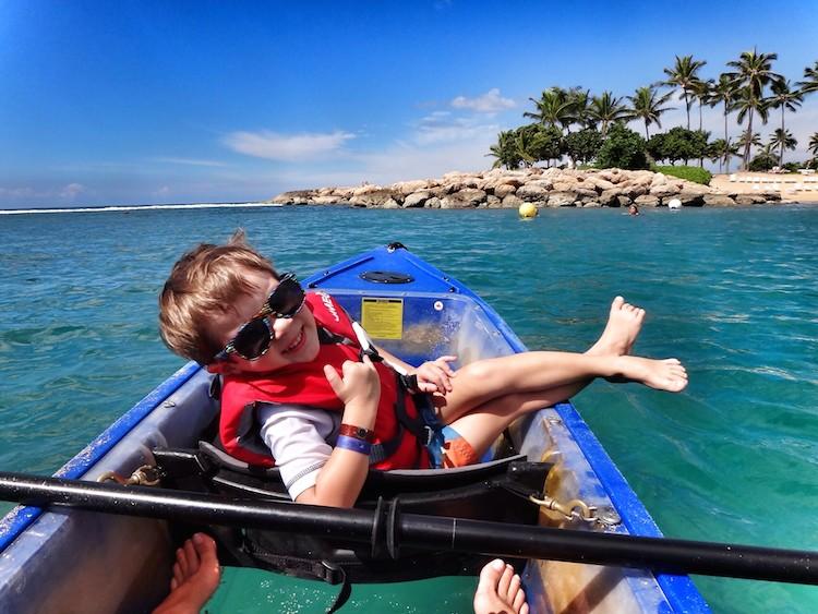 kayaking at aulani