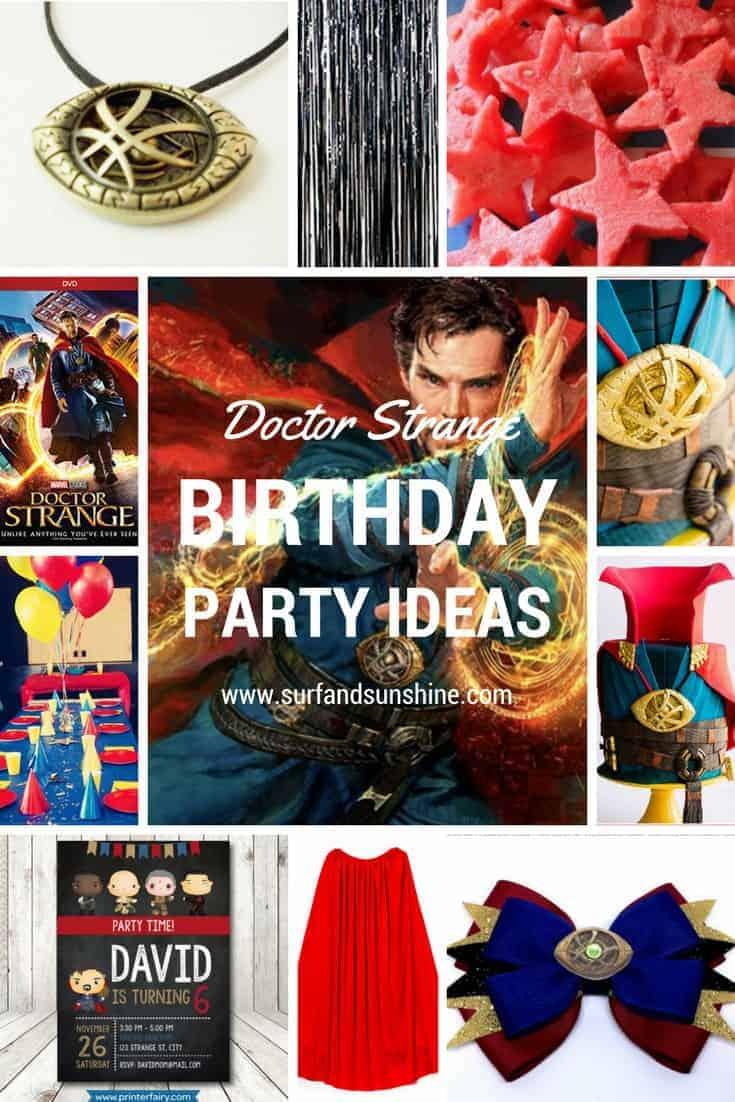 marvel doctor strange birthday party ideas