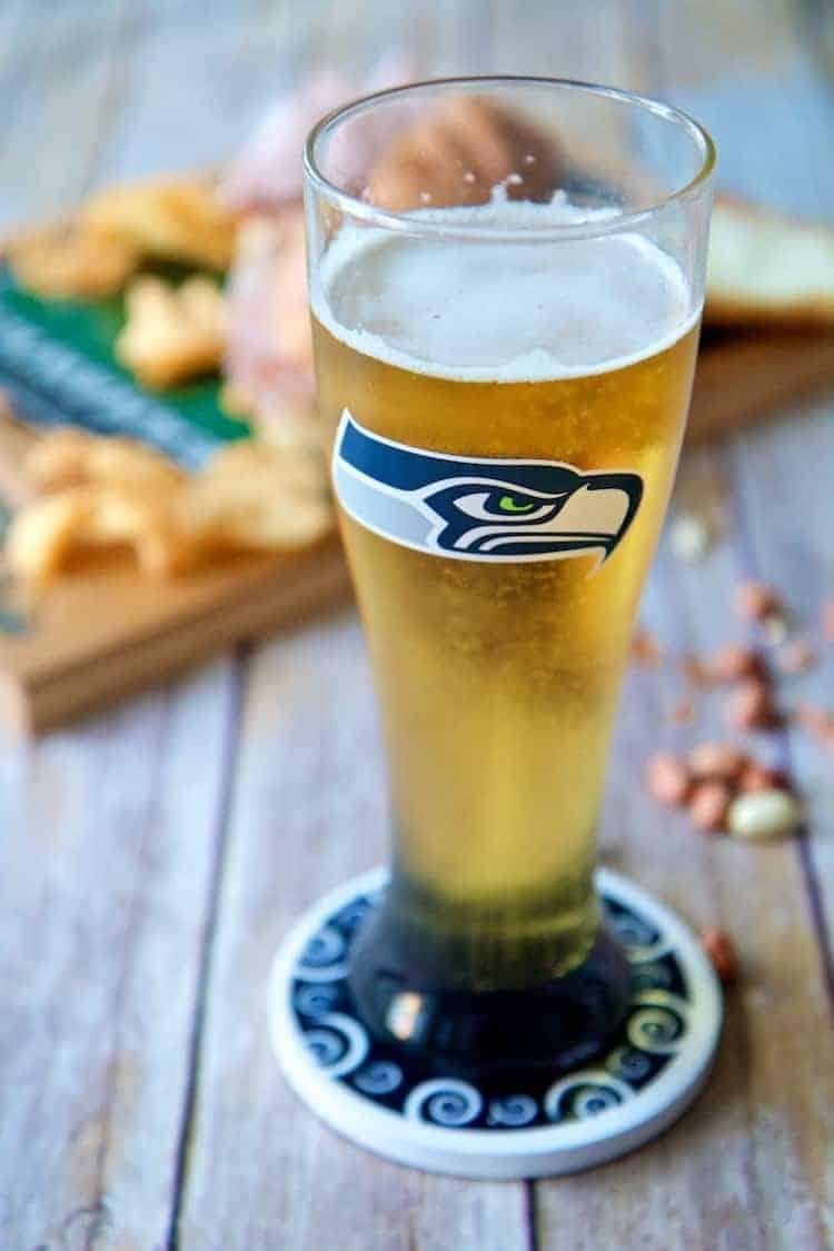 seahawks beer glass