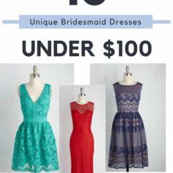 10 Unique and Affordable Bridesmaid Dresses Under $100