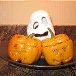 502325 - {Halloween Recipe} Stuffed Jack-O-Lantern Bell Peppers