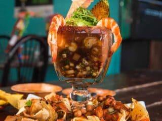 Shrimp Campechana mexican shrimp cocktail