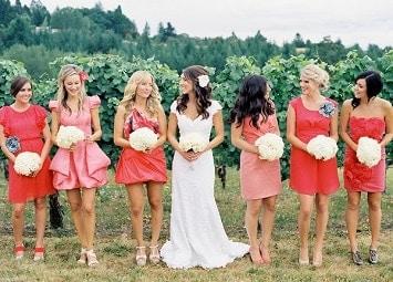 Mismatched Bridesmaids Dresses 4