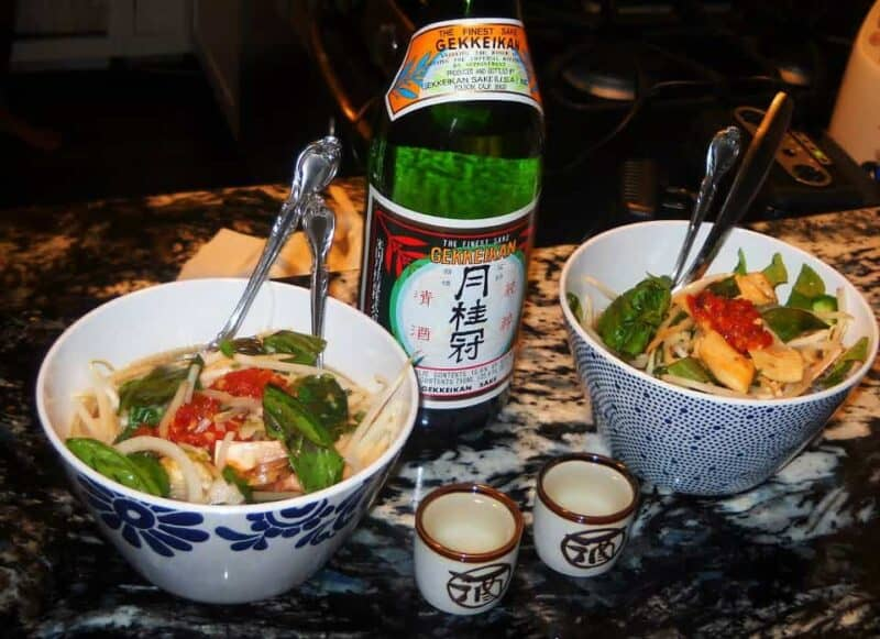 home made pho with miracle noodles