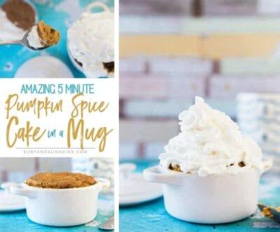 Amazing 5 Minute Pumpkin Spice Latte Mini Cake in a Mug Recipe