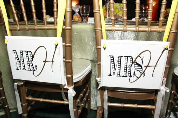 Mr. and Mrs. Wedding Chair Ideas