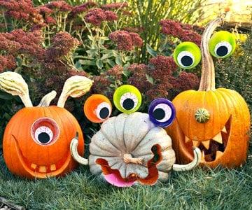 Fun, Funky, Spooky and Preppy Halloween Pumpkin Ideas