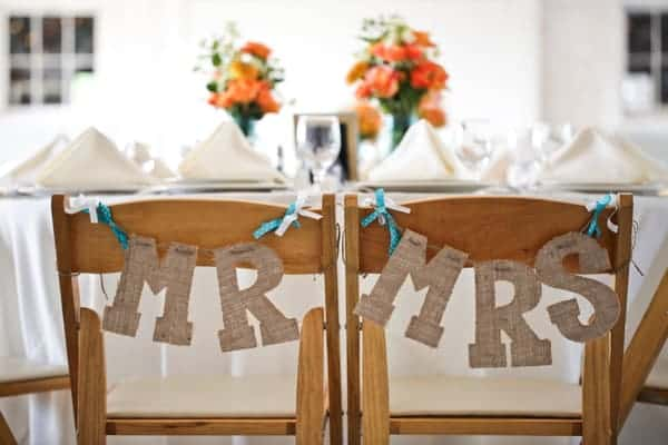 15 Mr And Mrs Wedding Chair Sign Ideas Surf And Sunshine