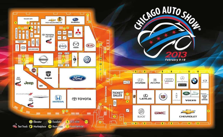 2013 chicago auto show map