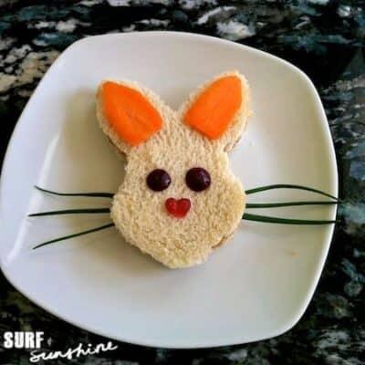 Easter Bunny Rabbit Sandwich 1