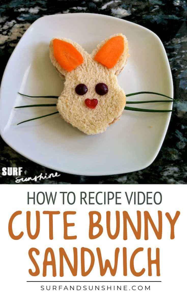 Easter Bunny Rabbit Sandwich pinterest
