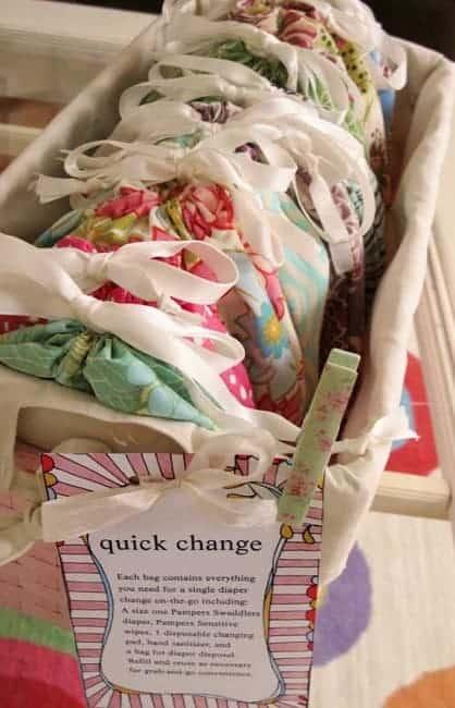 diy grab and go diaper change bags