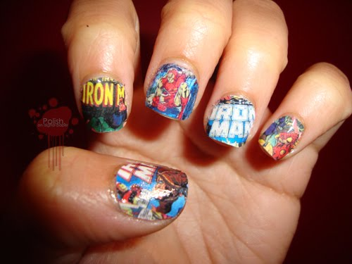 Iron Man Inspired Nails