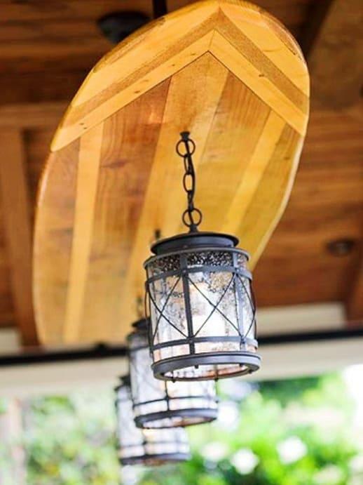 surfboard chandelier