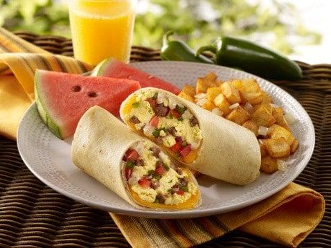 Breakfast Beef Burrito