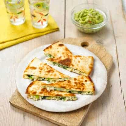 Stuffed Avocado Pesto Quesadilla
