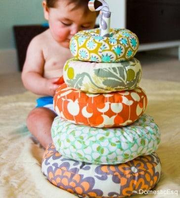 DIY Stuffed Stacker Baby Toy