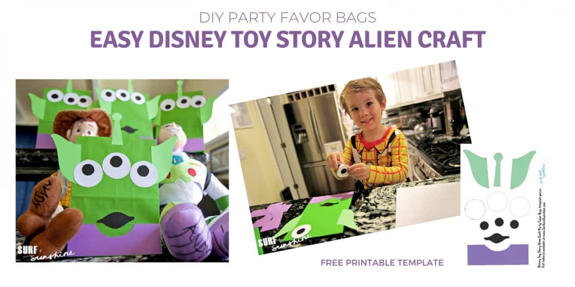 Disney Toy Story Party Favor Bags Free Printable Template