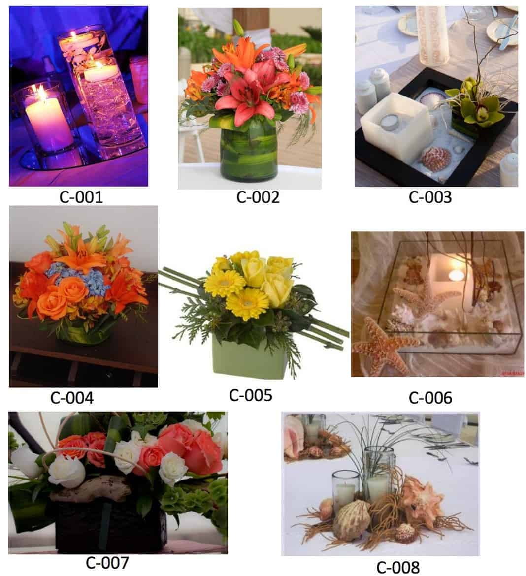 now amber centerpiece options