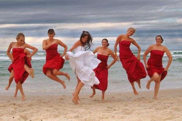 fun bridesmaid photos