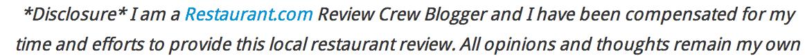 restaurant review crew dis