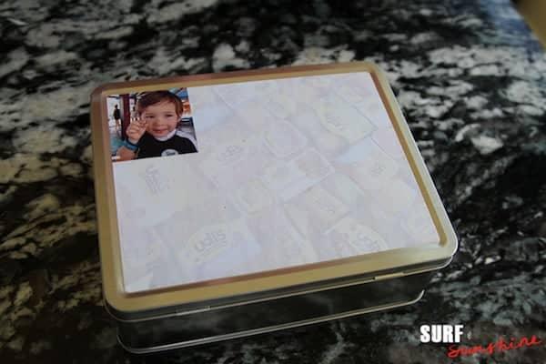 diy family memories lunchbox