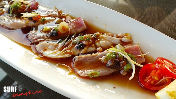 oriental breeze redondo beach tuna and red snapper sashimi
