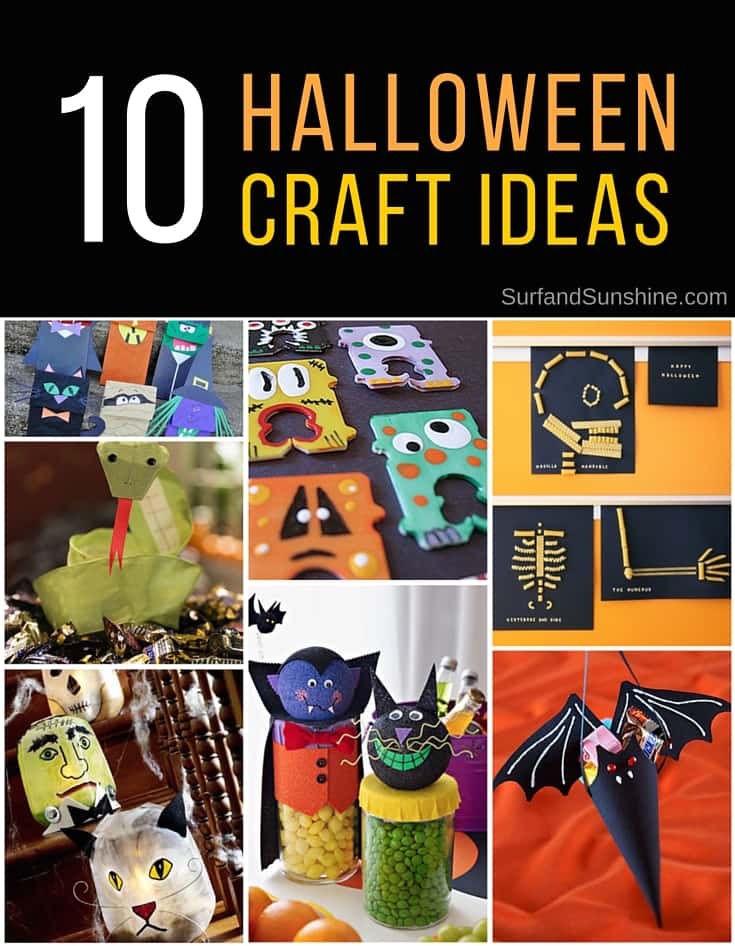 Whether you need to distract the kids, keep them occupied or are looking for something fun to do at your #Halloween parties, here are 10 fun Halloween #craft ideas to start working on today #parenting