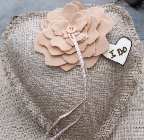 DIY Destination Wedding Ring Bearer Pillows 6