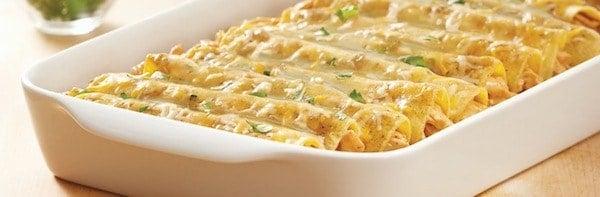 Verde Chicken Enchiladas Recipe
