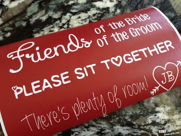 diy wedding ceremony seating sign 1 (2)