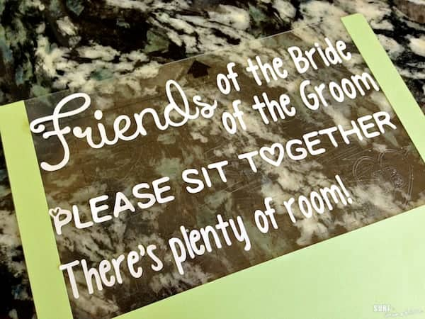 diy wedding ceremony seating sign 8