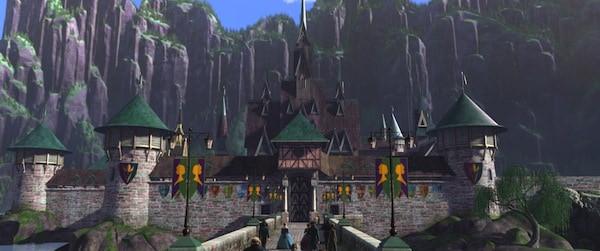"""FROZEN"" Arendelle Castle. ©2013 Disney. All Rights Reserved."