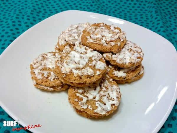 Boring iced oatmeal cookies for Santa