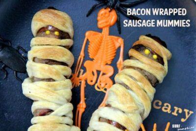 bacon wrapped sausage mummies recipe