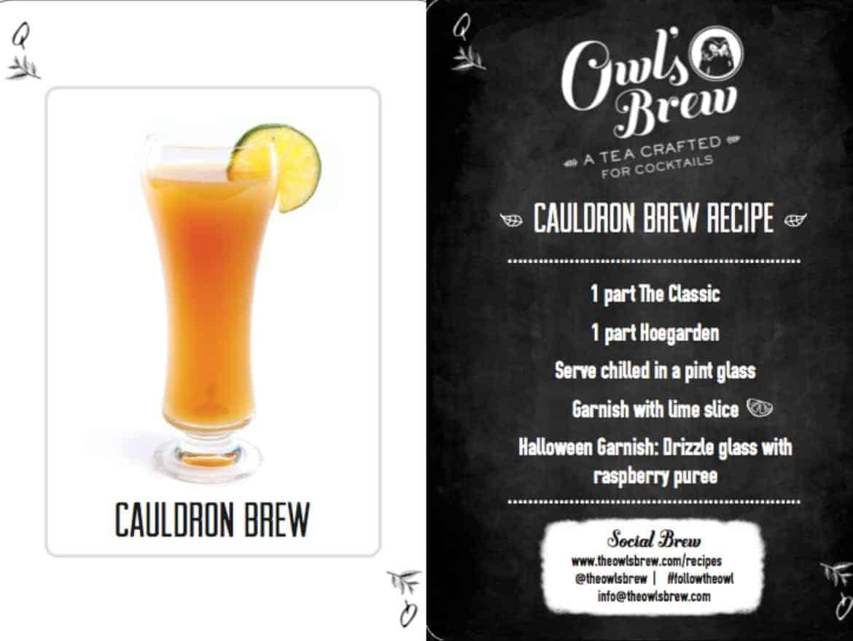 Halloween Cocktails Recipes - Cauldron Brew