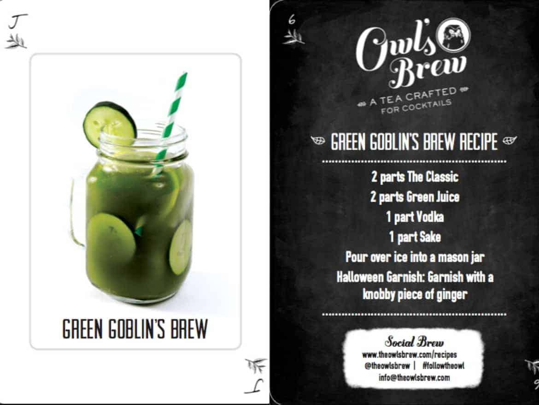 Halloween Cocktails Recipes - green goblin's brew