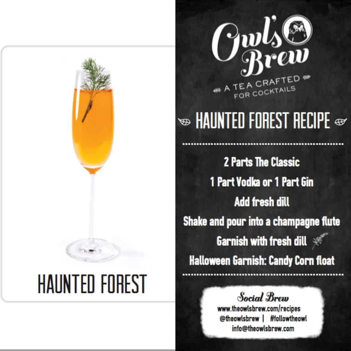 Halloween Cocktails Recipes - haunted forest