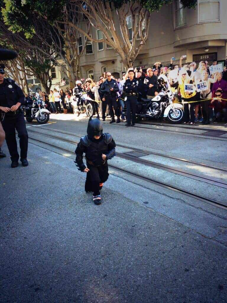 Batkid on the move (Source)