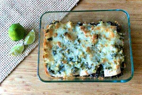 Black Bean and Red Quinoa Enchiladas with Salsa Verde (1)